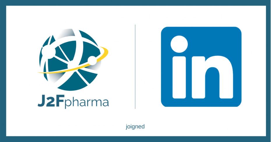 Logos J2Fpharma et linkedin